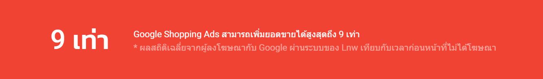 ผลลัพธ์ของ Google Shopping Ads